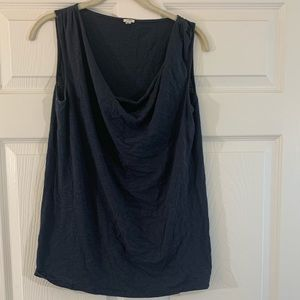 J. Crew | Gray | Draped Front | Sleeveless Top